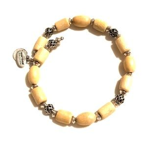 Alex and Ani Wooden Beaded Bangle